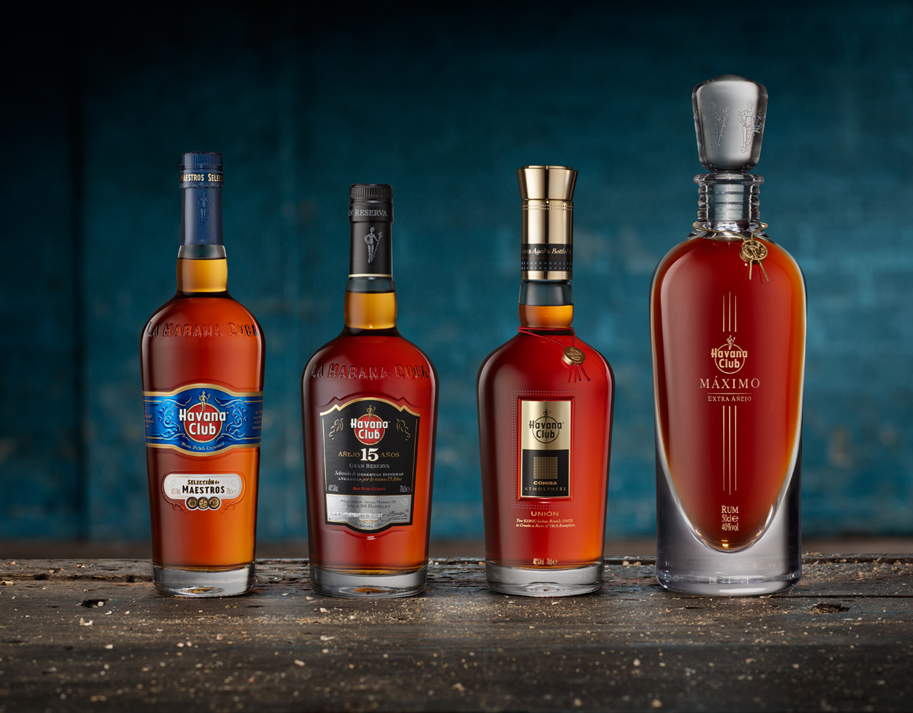 Havana Club range of bottles
