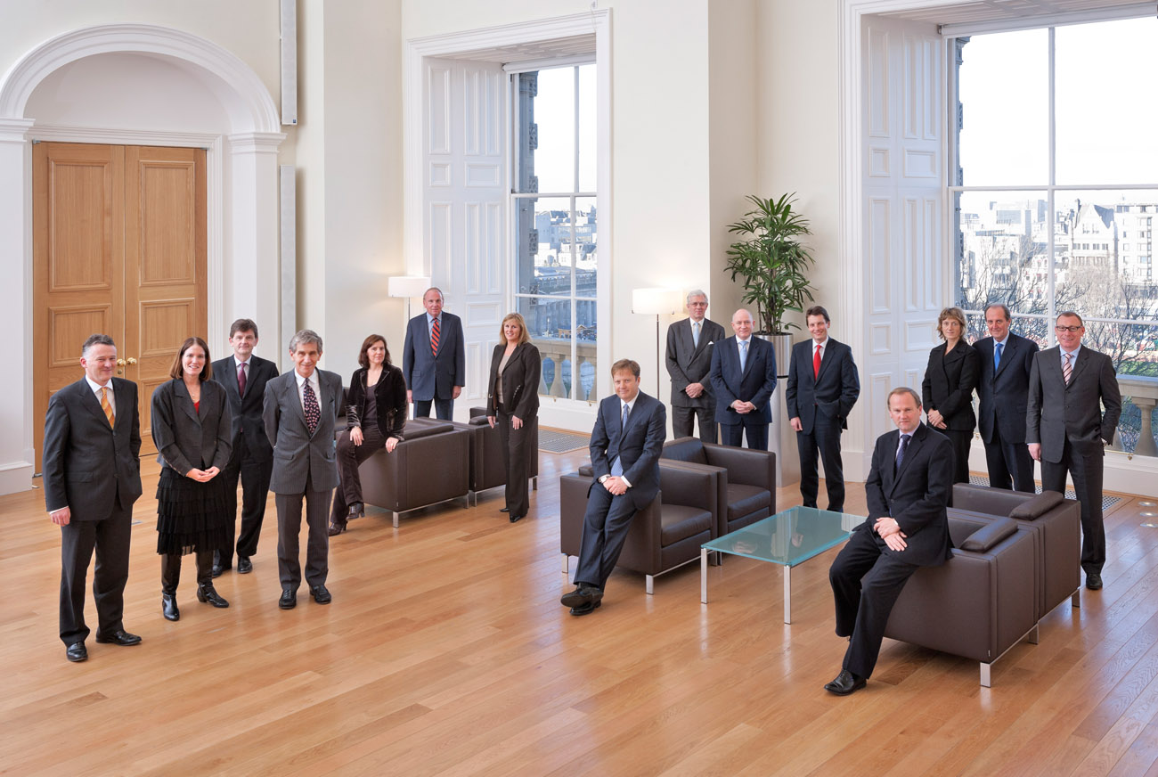 members of the board for Bank of Scotland annual report. photographed in head office on the Mound, Edinburgh