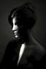 fine art black and white studio nude woman,