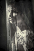 fine art black and white studio female nude with lace