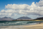 Isle of Harris Landscape of Luskentyre beach on a sunny day with Clisham in the background