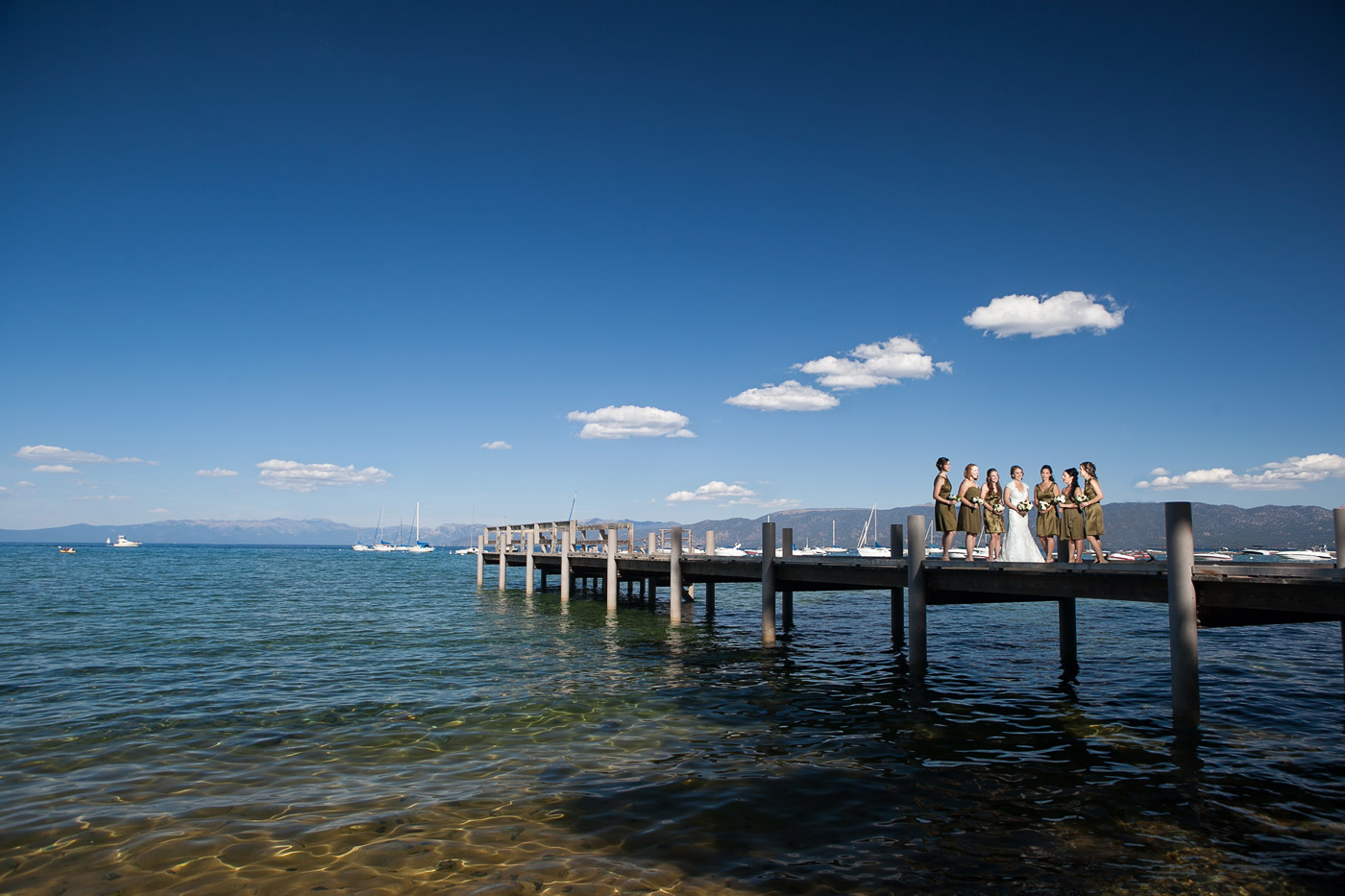 valhalla estate lake tahoe sunset wedding photos