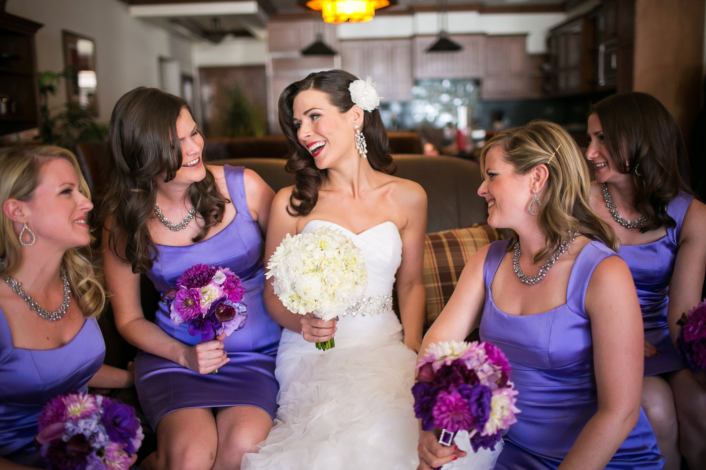 northstar tahoe bride and bridesmaids