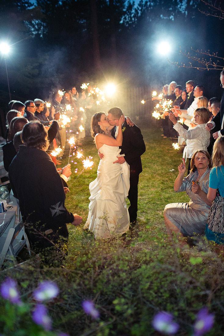 sparkles exit wedding photos