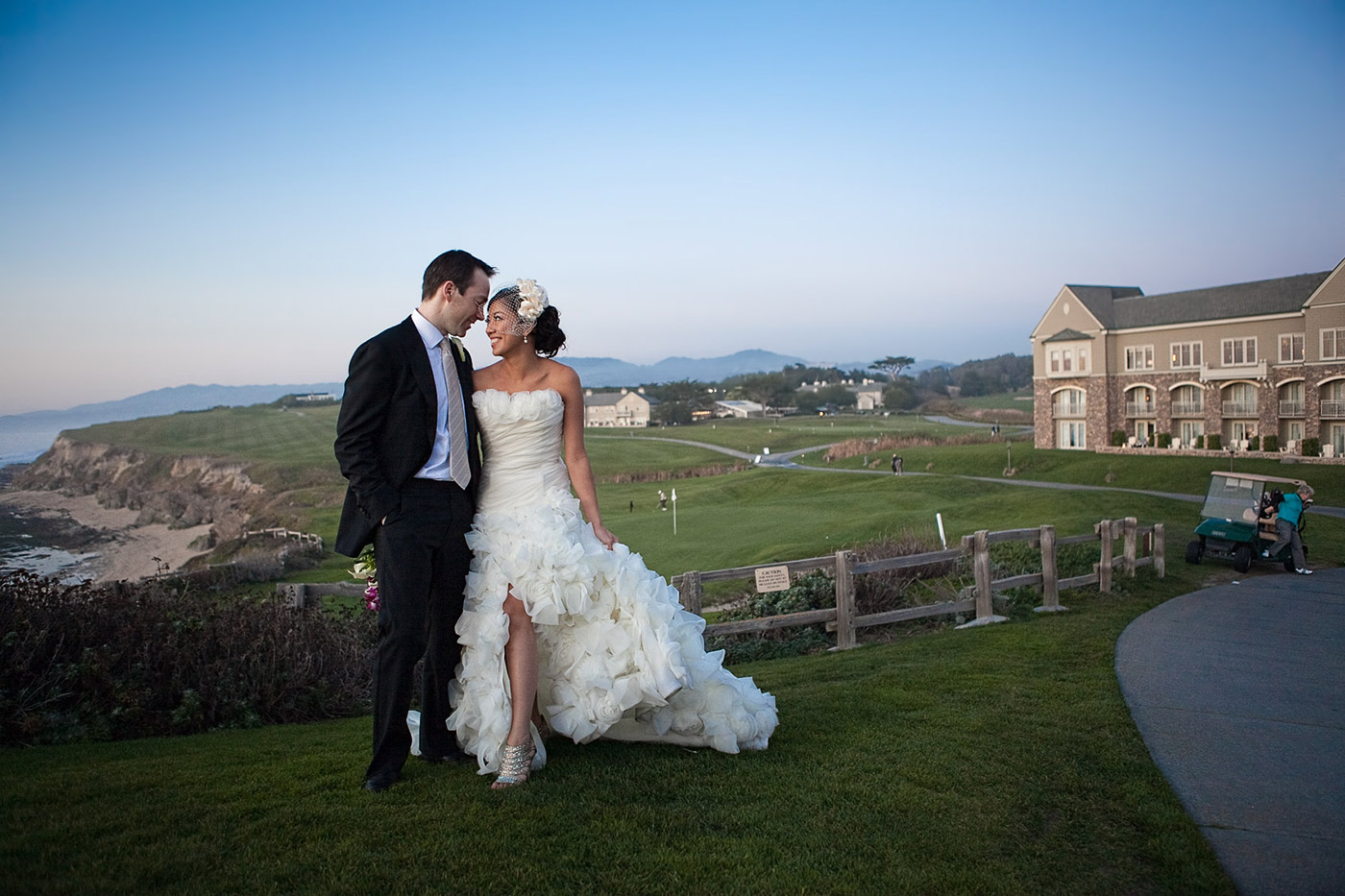 ritz carlton half moon bay wedding photos