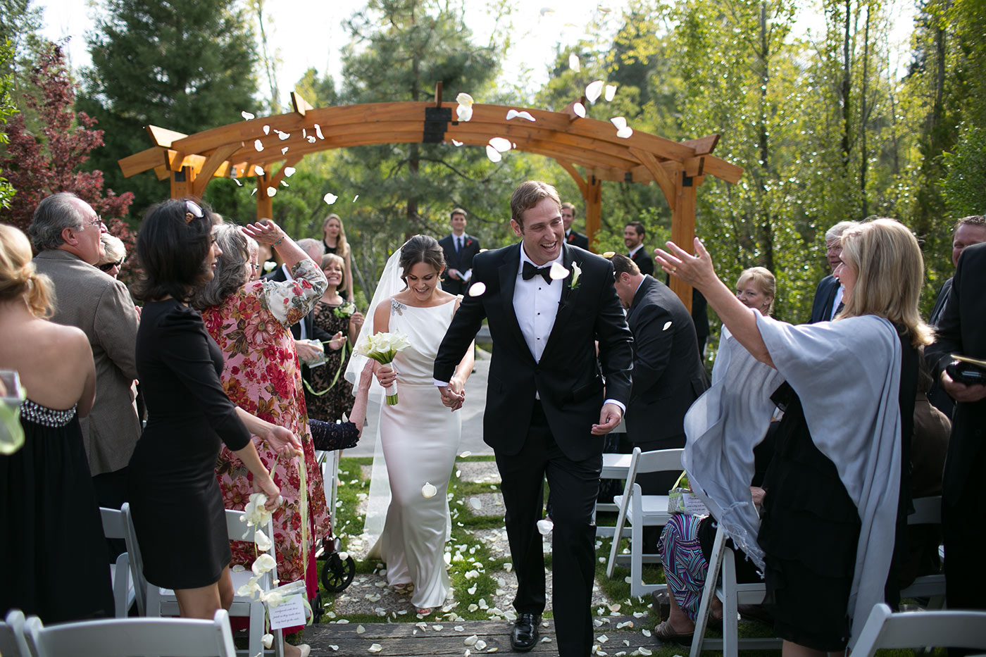 wedding ceremony at hyatt lake tahoe