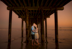 Avila Beach Pier engagement photos at sunset