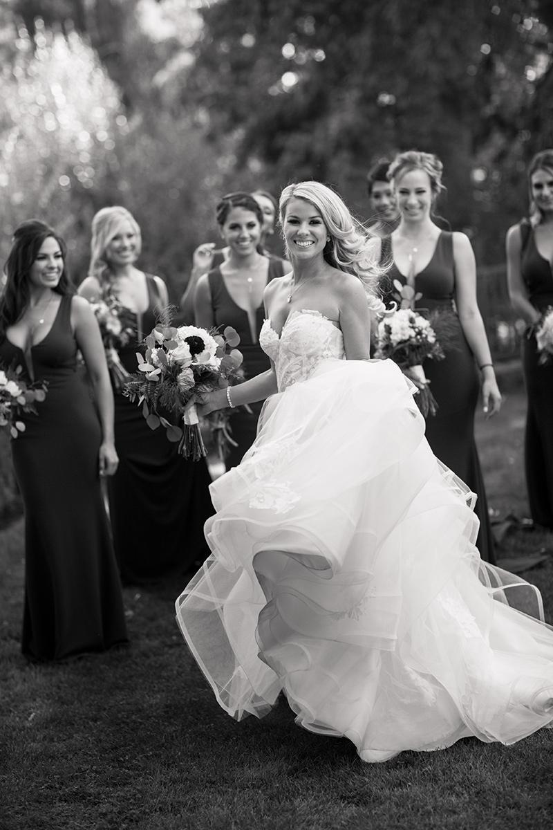 bride and bridesmaids at empire mine wedding
