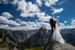 Wedding at Glacier Point observation point in Yosemite National Park