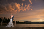sunset at a hyatt lake tahoe wedding
