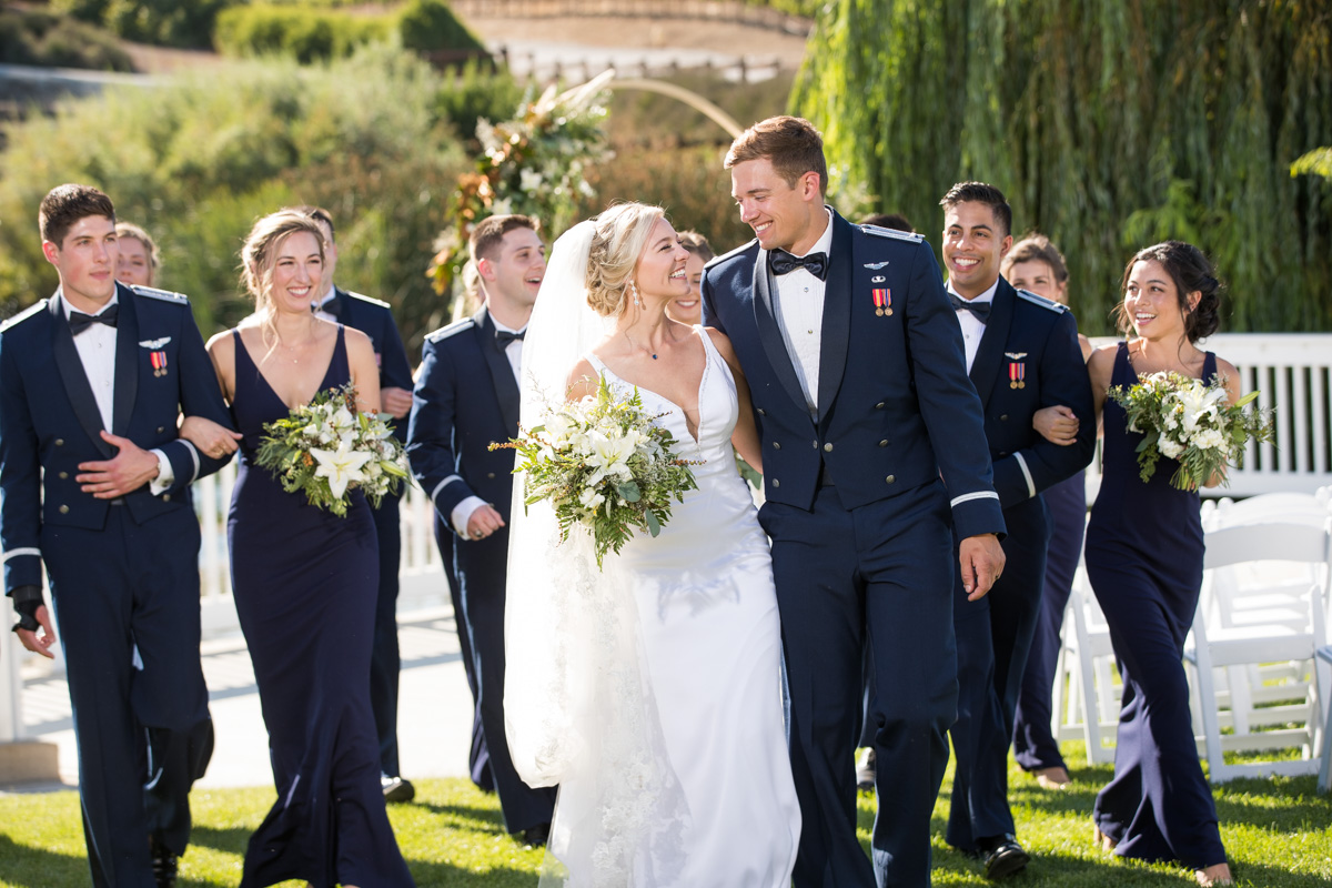 military wedding couple leal vinery