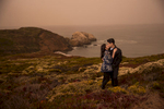 ocean-cliff-engagement-session in point bonita