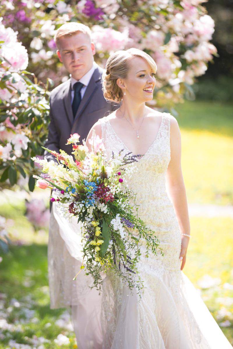 bride and groom portrait at a piedmont wedding