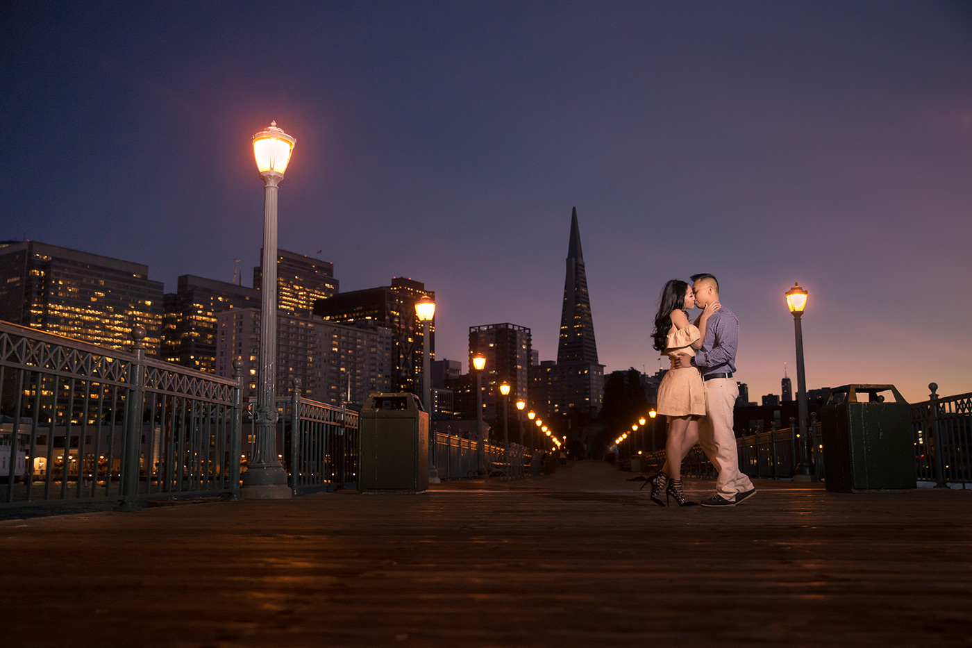 Pier 14 engagement session in San Francisco