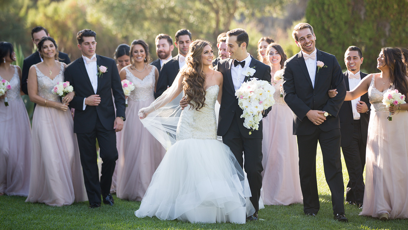 bridal party at a silver creek valley club wedding