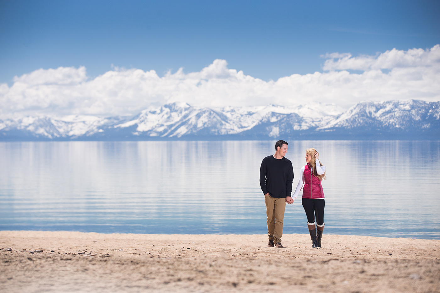 Lake Tahoe Engagement Photo