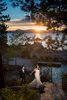 Bride and groom at a thunderbird lodge wedding in lake tahoe