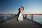 valhalla estate wedding photo at sunset