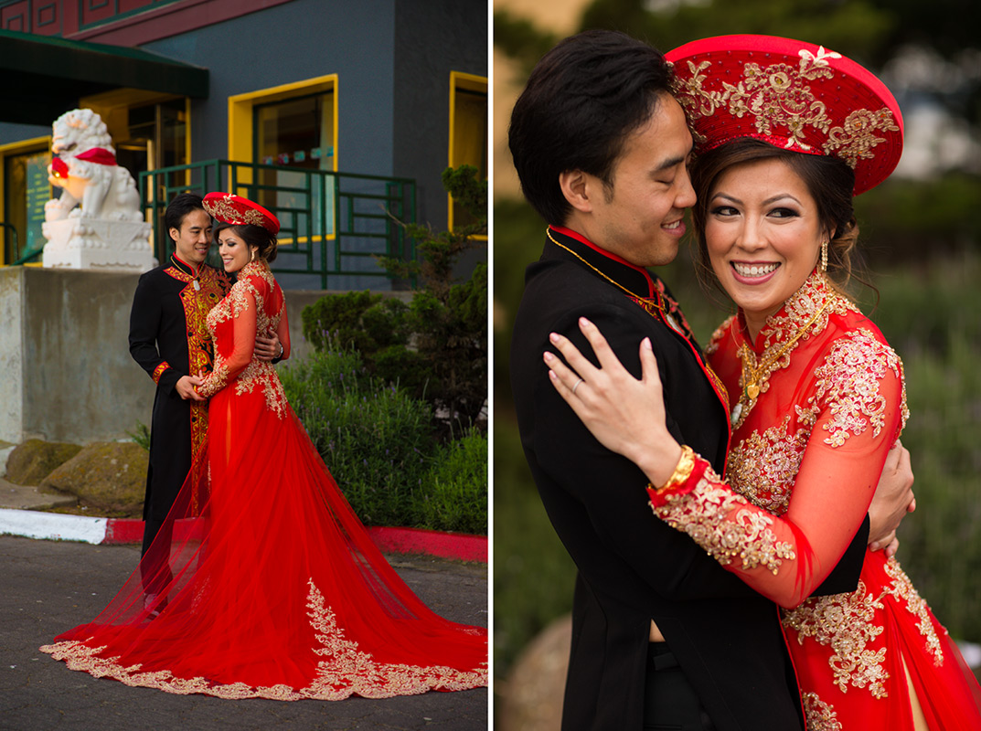 Image of an vietnamese bride and groom