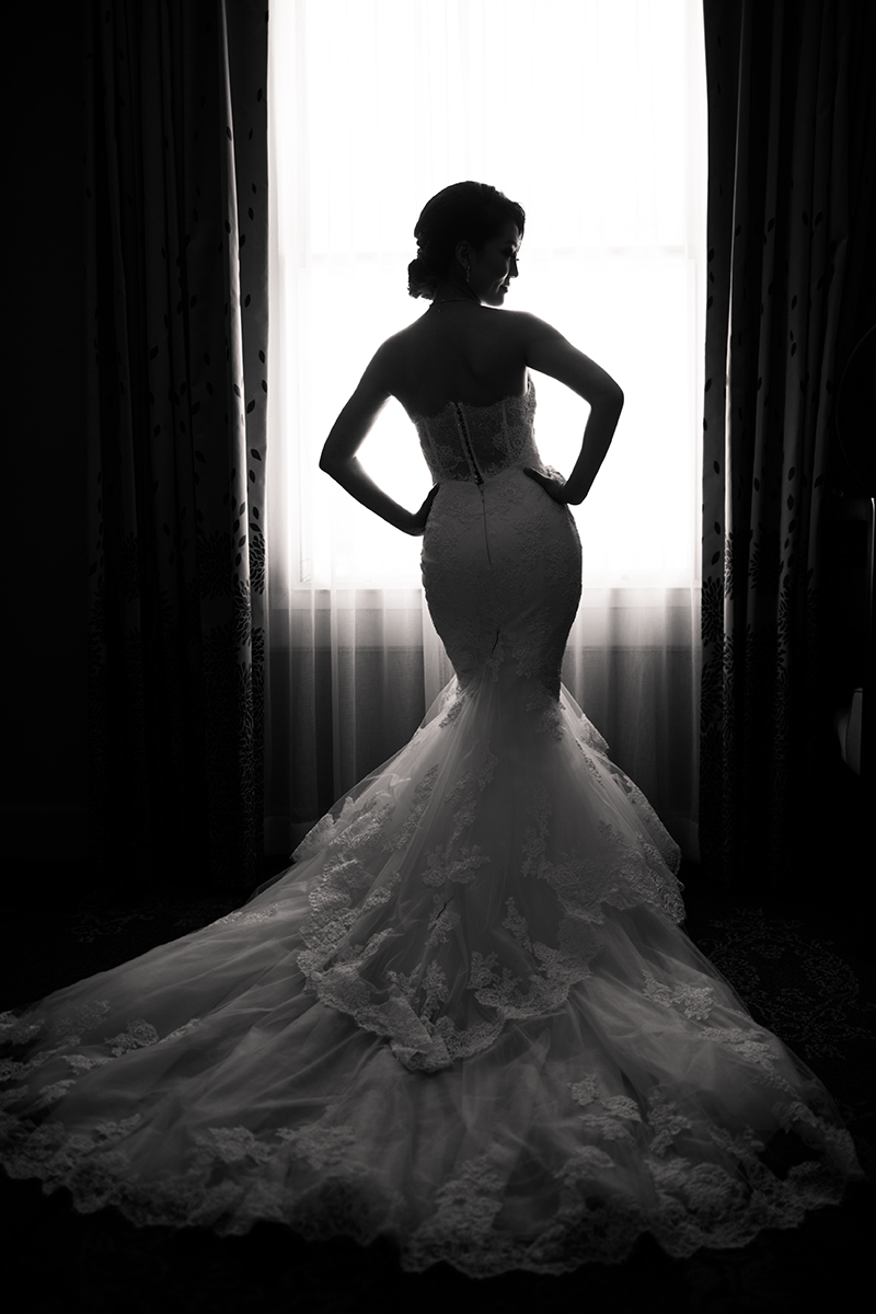 Bridal portrait at a Westin San jose wedding