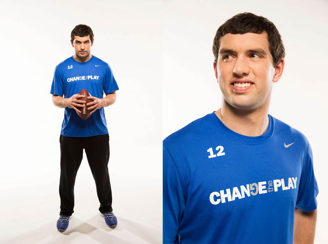 Andrew Luck photographed for IU Health
