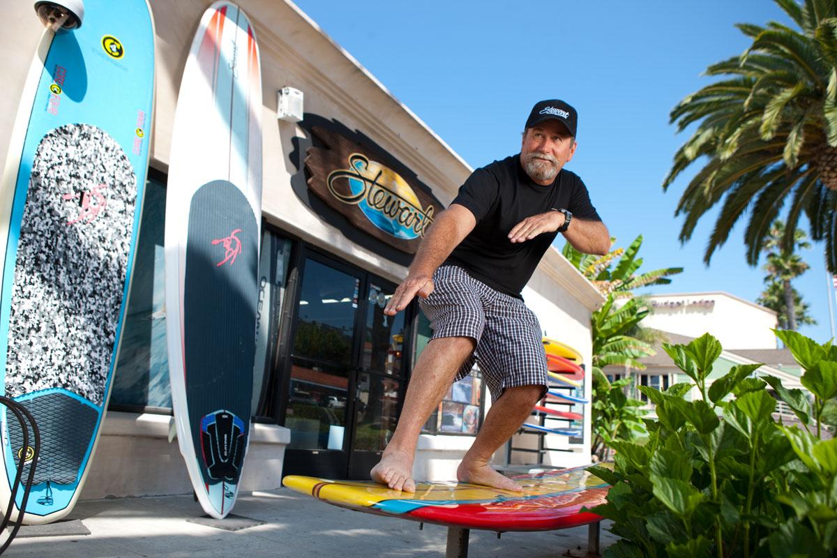 Bill Stewart of Steward Surfboards in San Clemente, CA.