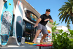 Bill Stewart of Steward Surfboards in San Clemente, CA.
