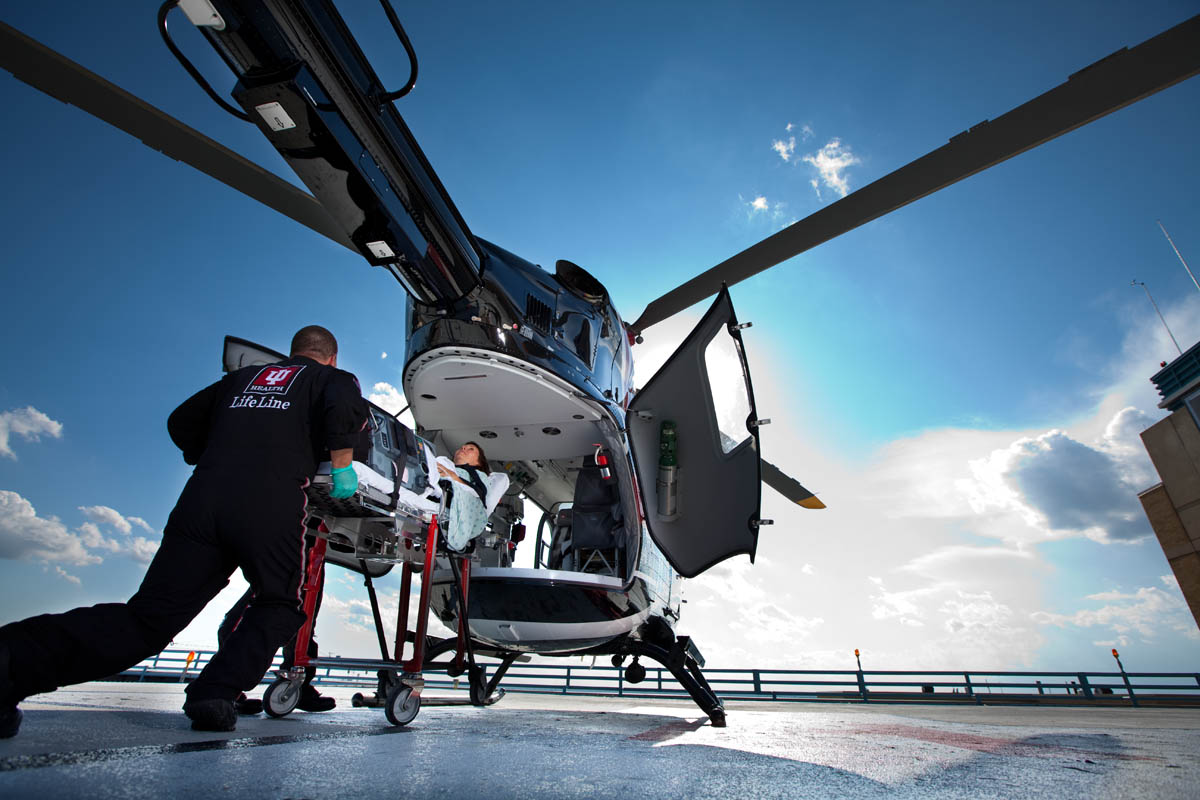 Lifeline Helicopter for IU Health in Indianapolis