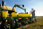 Loading the planter with seed