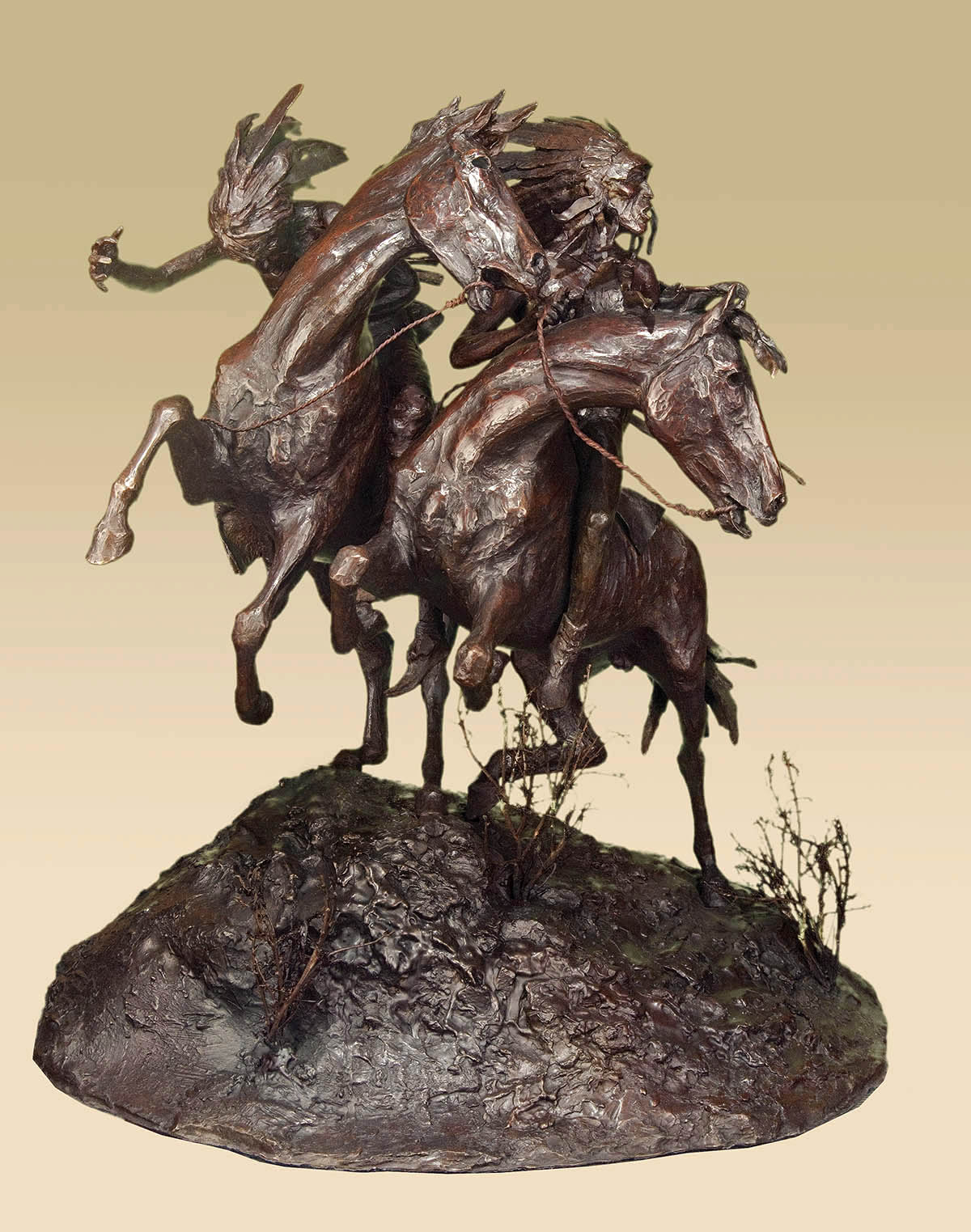 This bronze sculpture tells the story of an incident in 1874 that took place at Adobe Walls, near the Canadian River. Mountain man Billy Dixon and friends were confronted by a group of Cheyenne...a skirmish ensued. Dixon decided to take a shot from nearly a mile away and hit his target.