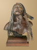 life size bronze bust, singing Lakota warrior, singing Sioux 