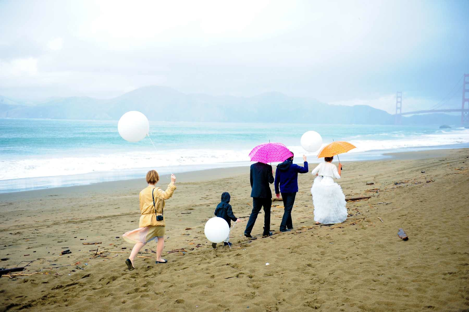 Creative & Fun Bay Area Baker Beach Wedding Photography Images