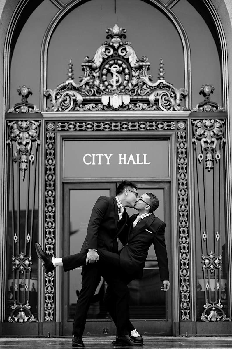 San Francisco City Hall Gay Wedding Photographer /  Image