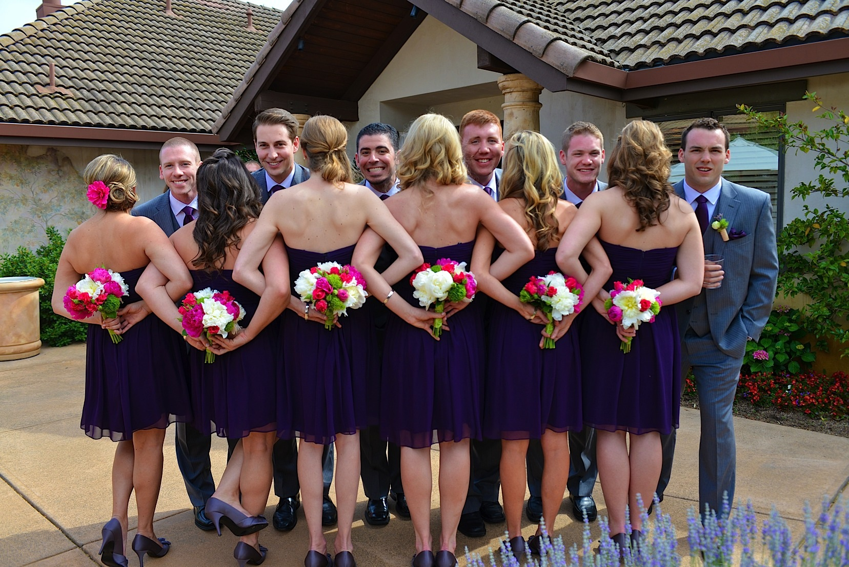 Napa Valley Artistic and Fun Wedding Photo of Bridesmaids