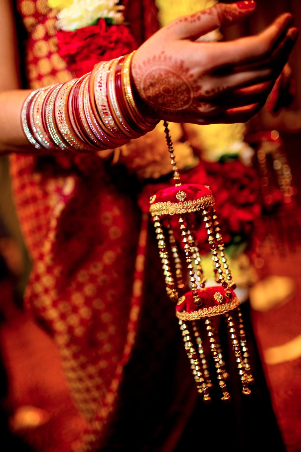 San Francisco Hindu / Indian Wedding Picture of the Henna and Jewelry.