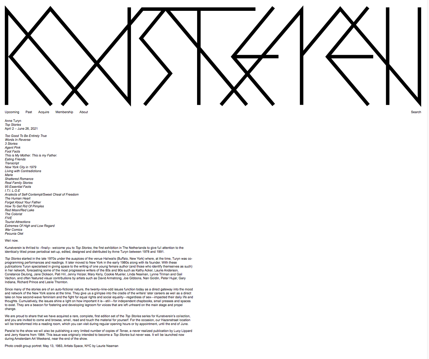 Kunstverein.nlAmsterdamApril 2, 2021-June 26, 2021