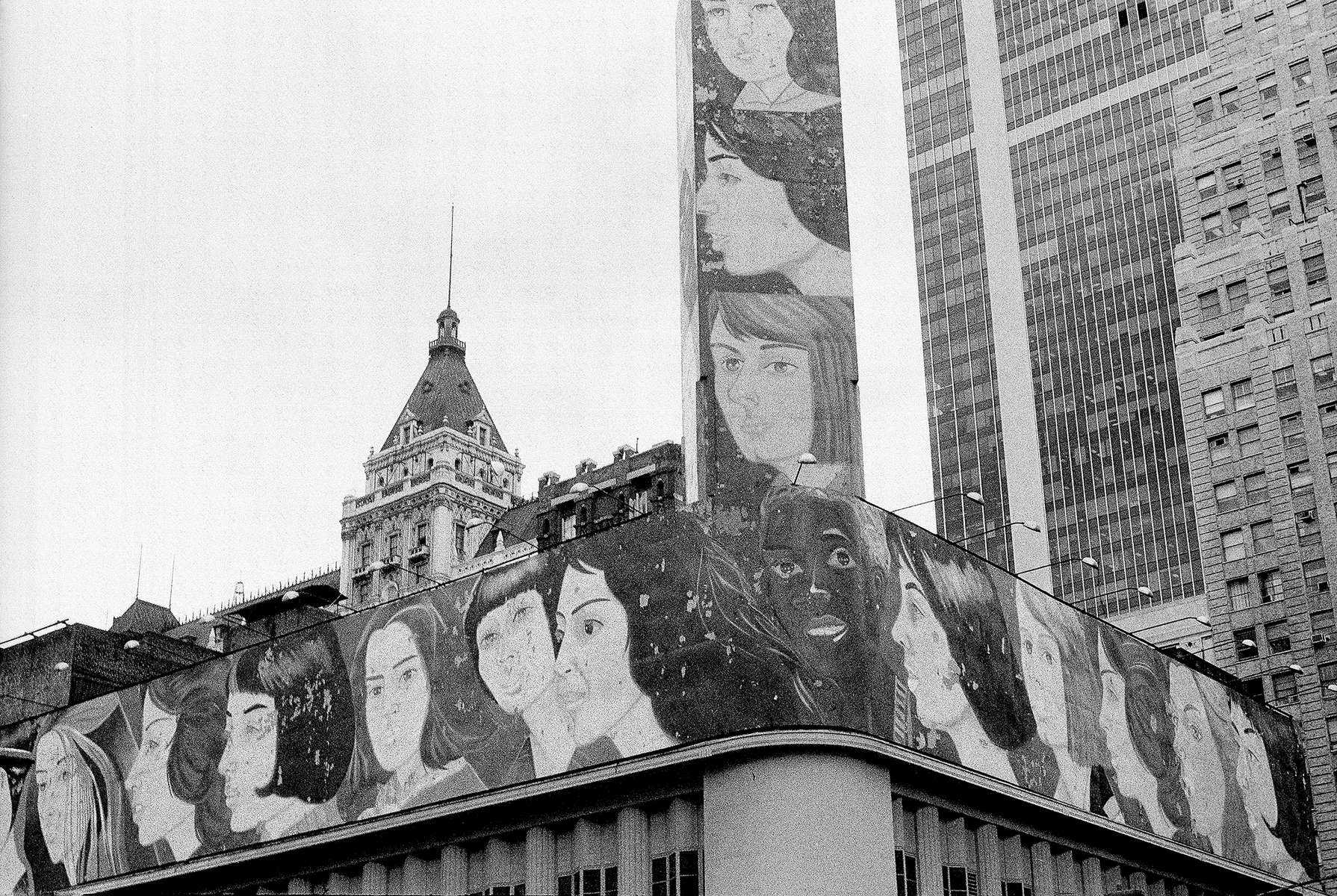 from Top Stories #9: N.Y.C. in 1979  by Kathy Acker'Nine Women' by Alex Katz,The Public Art Fund, 1977-1982
