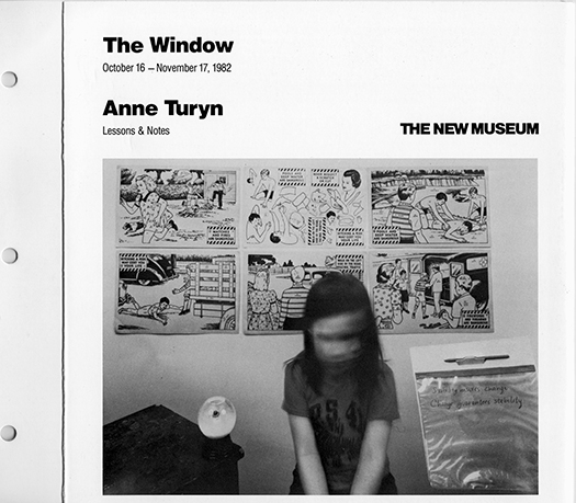 The New Museum1982Anne Turyn, Lessons & Notesby Robin Dodds