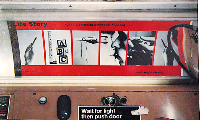 Critical Messages, Artemesia Gallery1985bus placard, Chicago Transit Authorityphotograph by Nicole Ferentz