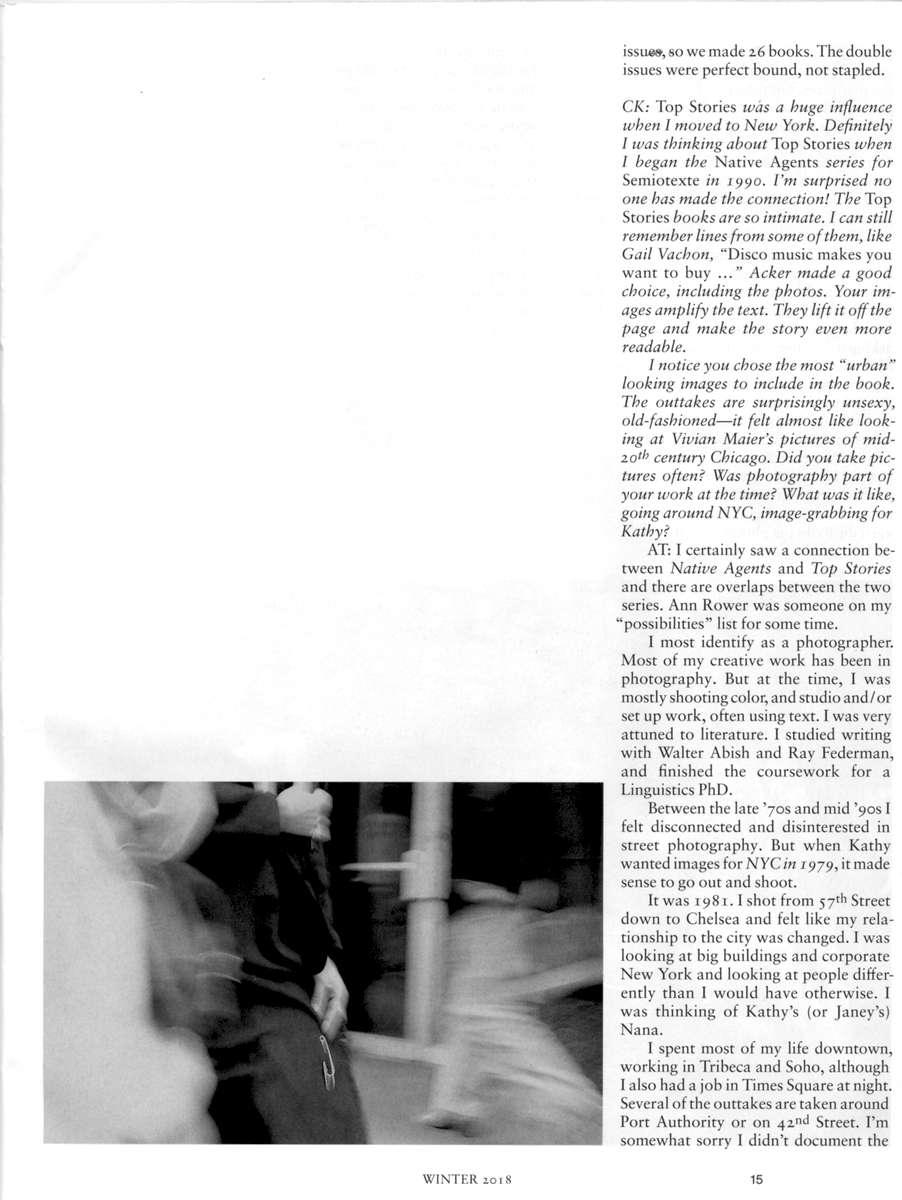 page 15from Starship N˚ 172018, BerlinChris Kraus interviews Anne Turyn