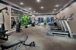 workout room at dusk