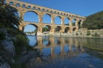 Roman aqueduct of Pont du Gard built in 1st century