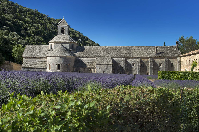 12th century stone abbey near Gordes, France