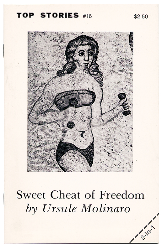 #16side two coverSweet Cheat of Freedomby Ursule Molinaro1983cover by Linda Neaman