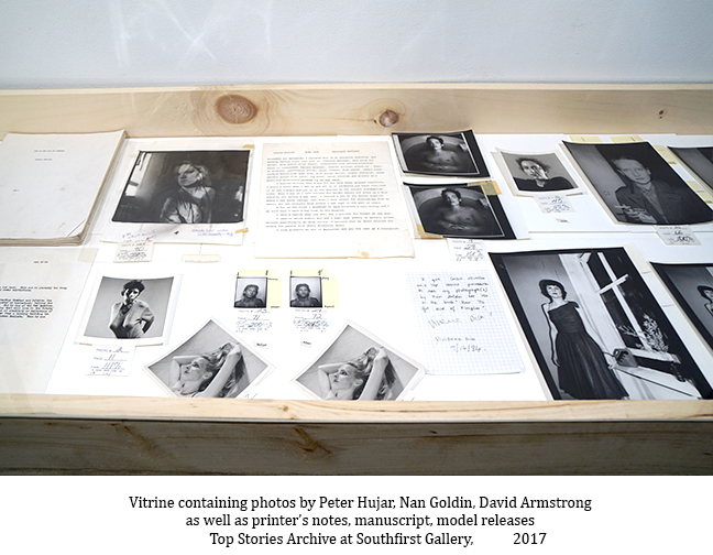 Vitrine-at-Southfirst-with-Peter-Hujar_-Nan-Goldin_-David-Armstrong-copy