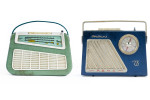 Left: Ilona Portable Radio, 1969Right: Trabant Rema T6 Radio,1964The Wende Museum and Archive of the Cold War Collection