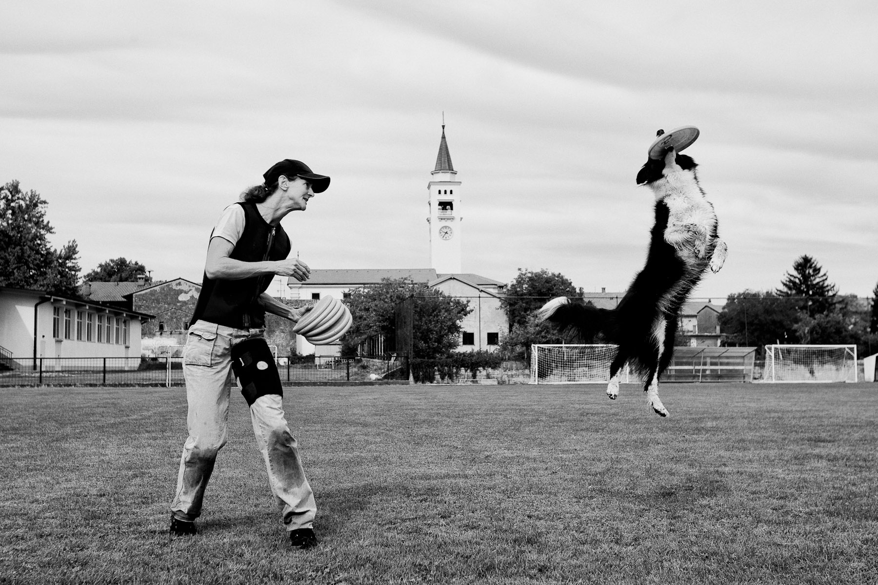 Jean and Lyra practice at a sports field of a football club in Rence, Slovenia, September 6, 2011.