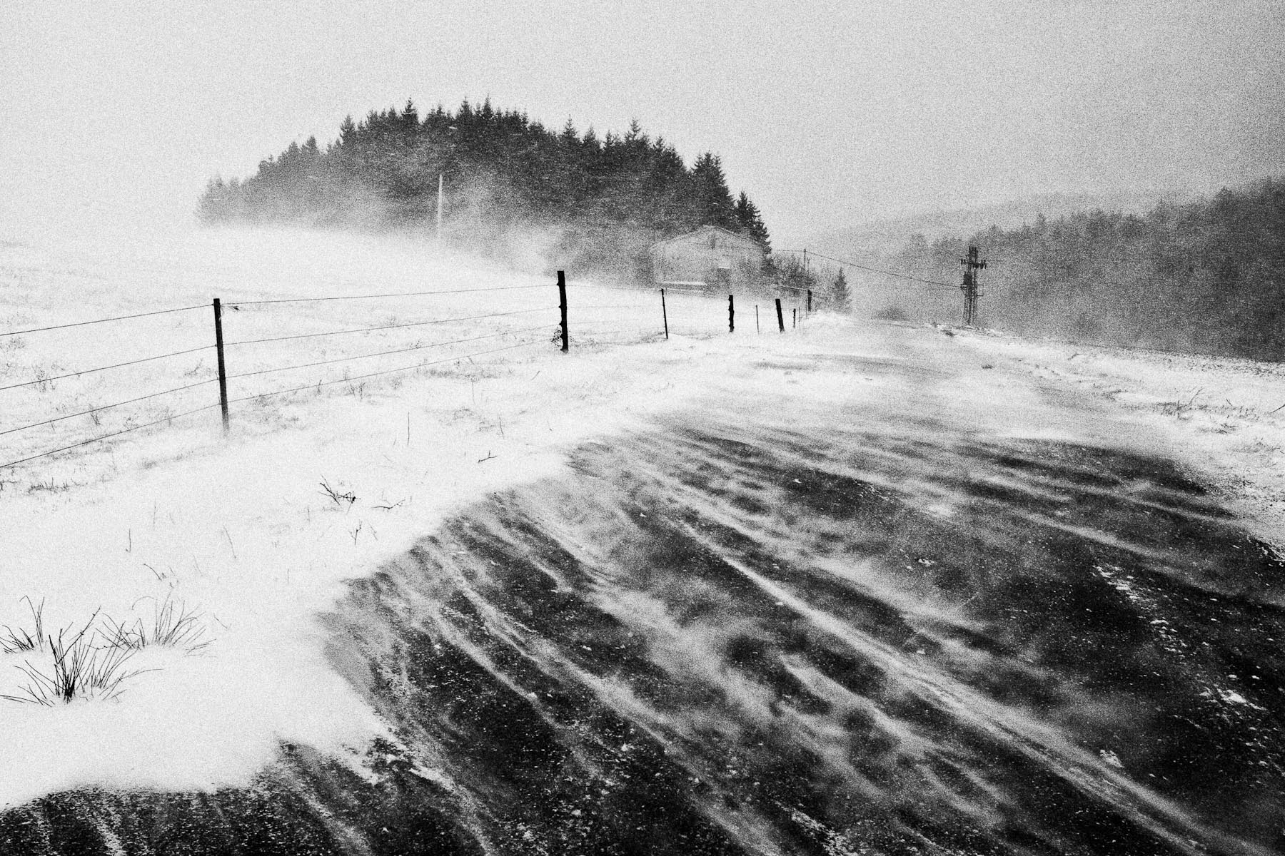 Extreme bora wind gusts at more than 130 kmph in Razdrto, Slovenia, on 10th March 2010. The Bora is a common gusty wind in the littoral regions of Slovenia. A large cyclone that moved through Europe in March caused its highest windspeeds on record, snowdrifts, closed roads and plenty of damage.