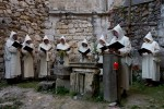 Performers dressed as monks sing chorales written in the Zice Carthusian Monastery for the first time since they were written in 1280. The high profile cultural performance was a part of a two-day Fiery Carthusia Medieval event in 2007.