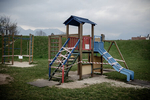 A closed playground, one of early safety measures, during the coronavirus outbreak nationwide lockdown in Kranj, Slovenia, on March 21, 2020.